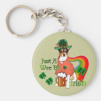 Sts Patrick Terrier för dagråtta Rund Nyckelring