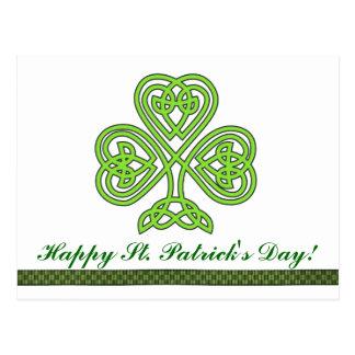 Sts Patrick vykort för klöver för dagShamrock