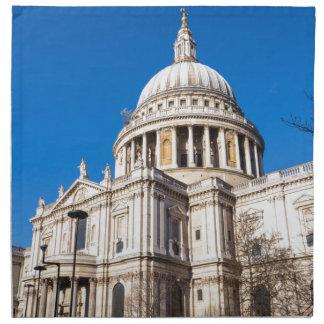 Sts Paul domkyrka London med blå himmel Tygservett