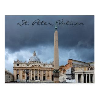 Sts Peter Basicila, helig stad av Vatican Vykort