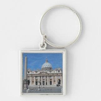 Sts Peter basilica Vatican City Fyrkantig Silverfärgad Nyckelring