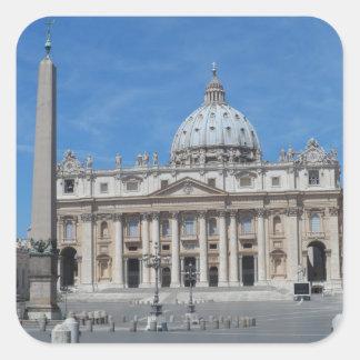 Sts Peter basilica Vatican City Fyrkantigt Klistermärke