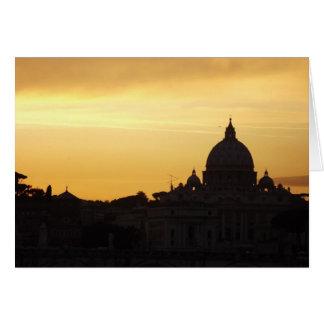 Sts Peter Rome på solnedgången Hälsningskort