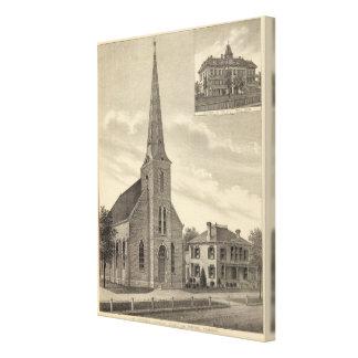 Sts Theresa kyrka, Nebraska Canvastryck