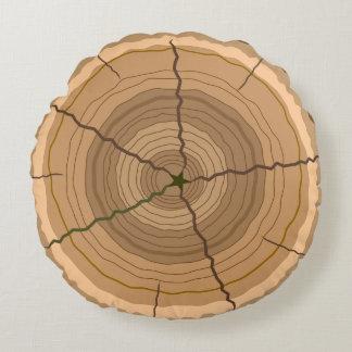 Stubbe för skogträdstam rund kudde