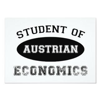 Student av österrikisk nationalekonomi skräddarsydda inbjudan