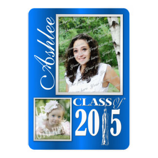 Student för Tasselfoto 2015 12,7 X 17,8 Cm Inbjudningskort