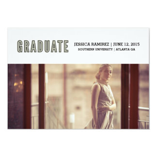 student 12,7 x 17,8 cm inbjudningskort