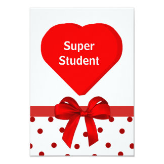 Student valentinkort 8,9 x 12,7 cm inbjudningskort