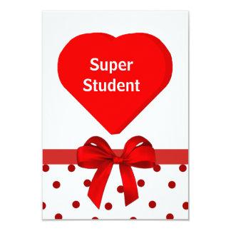 Student valentinkort inbjudan