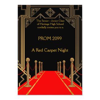StudentbalPensionär-Junior, Gatsby stil som är röd 12,7 X 17,8 Cm Inbjudningskort