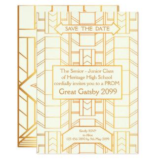 StudentbalPensionär-Junior, underbara Gatsby, 12,7 X 17,8 Cm Inbjudningskort