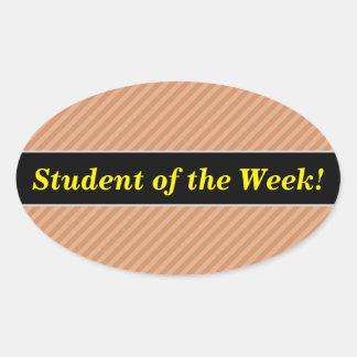 Studentberöm + Ljust - brunt- & Ovalt Klistermärke