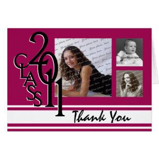 Studenten 2011 tackar dig hälsningskort