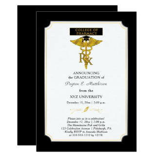 Studenten för apotekhögskolaPharmacist |Toxicology 12,7 X 17,8 Cm Inbjudningskort