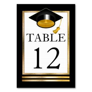 Studenten för goldtone | vit för svart | flott bordsnummer