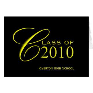 Studenten klassificerar av 2010 - skola färgkort hälsningskort