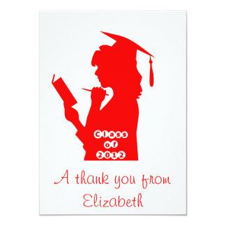 Studenten tackar dig att card inbjudningskort