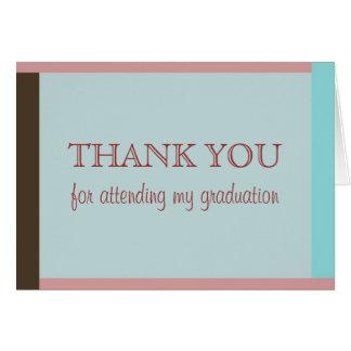 Studenten tackar dig att card OBS kort