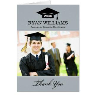 Studententackfotoet Cards | grått och svart OBS Kort