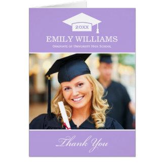 Studententackfotoet Cards ljus | - lilor OBS Kort
