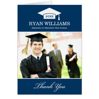 Studententackfotoet Cards | marinblå vit OBS Kort