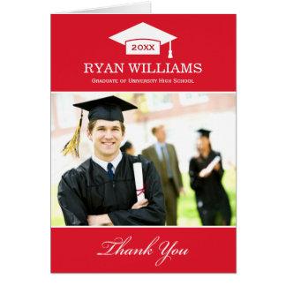 Studententackfotoet Cards röd | och vit OBS Kort