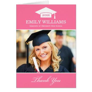 Studententackfotoet Cards | rosor och vit OBS Kort