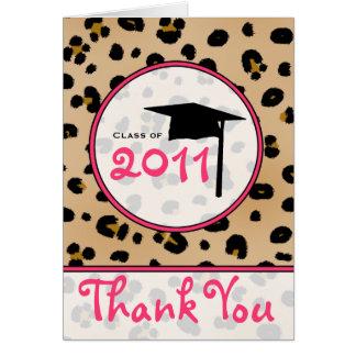 Studententackkort - Leopard Hälsningskort