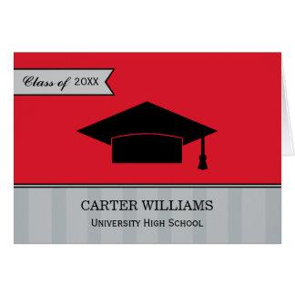 Studententackkortet Cards grå som är röd och