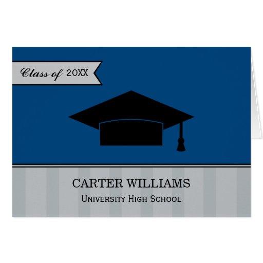 Studententackkortet Cards | marinblåa grått Hälsningskort