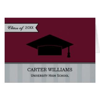 Studententackkortet Cards | rödbrunt rött OBS Kort