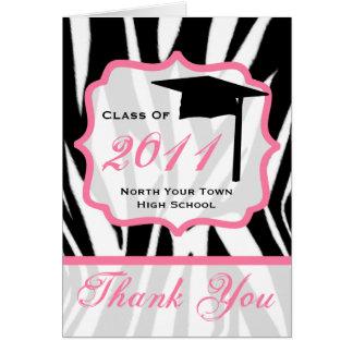 Studententackkortet - klassificera av sebran 2011 hälsningskort