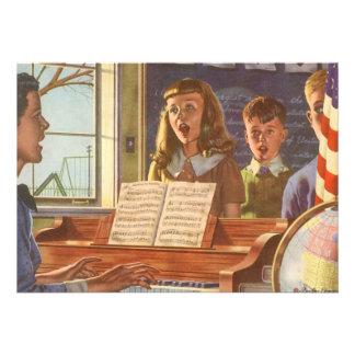 Studenter för undervisning för vintagemusiklärare anpassade tillkännagivande