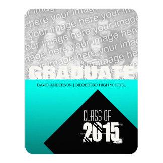 Studentfesten klassificerar av 2017 beställnings- 10,8 x 14 cm inbjudningskort