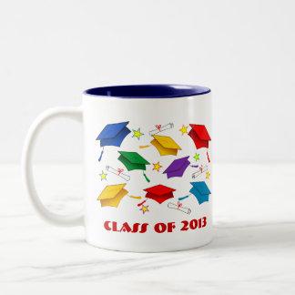Studentfestmuggar - klassificera av 2013 Två-Tonad mugg