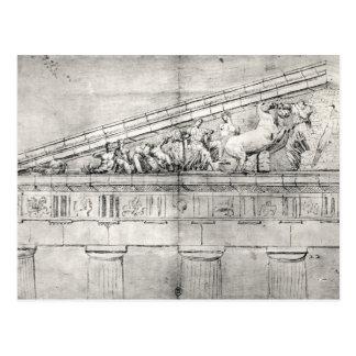 Studie av en pediment från parthenonen vykort