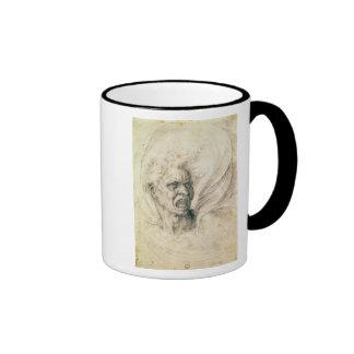 Studie av ropa för man kaffe muggar