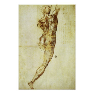 Studie för den stridCascina Michelangelo Poster