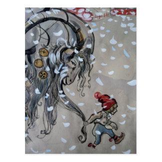 Studie för Julbacken (den Yule geten) 1911 Vykort