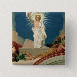 Studie för uppståndelsen av Kristus, 1860 Standard Kanpp Fyrkantig 5.1 Cm