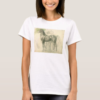 Studien av en häst av Edgar Degas, vintagekonst T-shirts