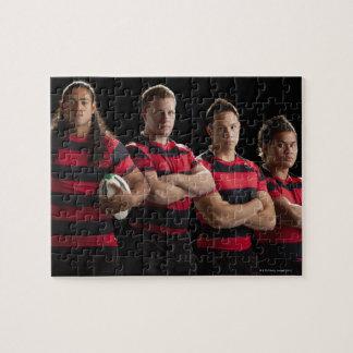 Studioporträtt av det male rugbylaget pussel