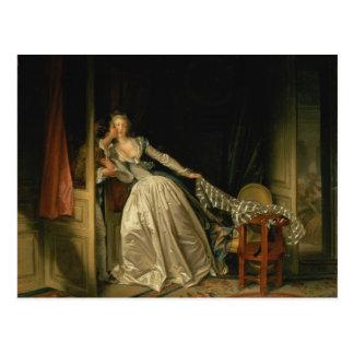 Stulen kyss - Fragonard Vykort