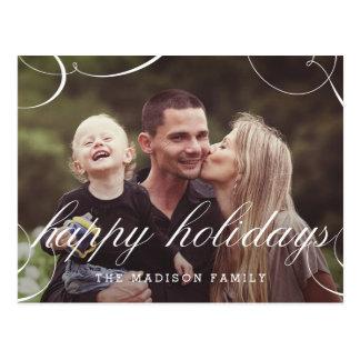 Stunningly skrivad vykort för helgdagfotokort
