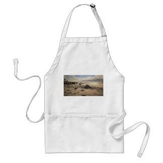 Stupat Sandslott på stranden Förkläde