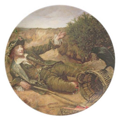 Stupat vid waysiden, 1886 (olja på kanfas) fest tallrikar