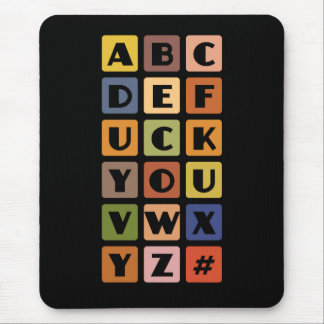 Stygg alfabetmousepad musmatta