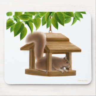 Stygg fågelförlagematareekorre Mousepad Musmatta