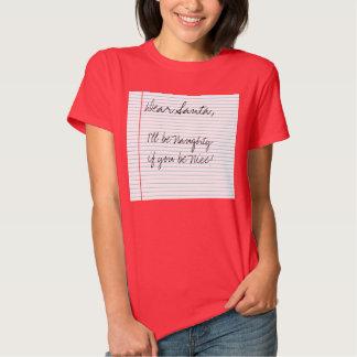Stygg flicka för roligt kärt Santa brev Tshirts